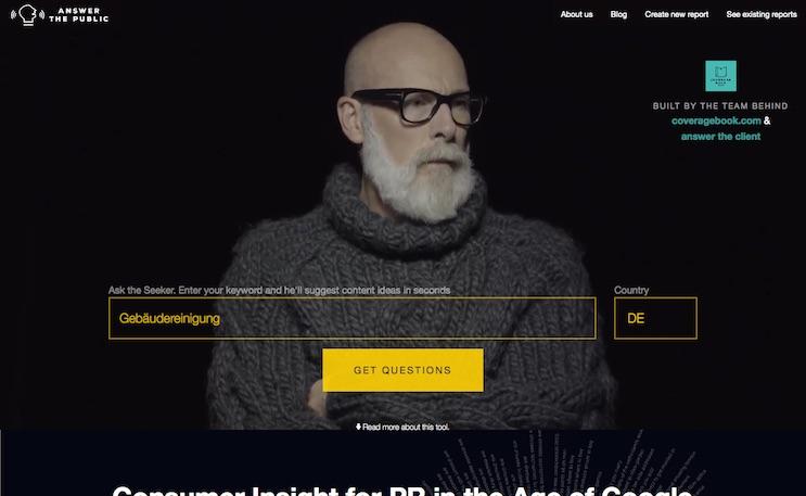 answerthepublic.com bietet wichtige Informationen für lokale SEO.